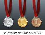 award golden  silver and bronze ... | Shutterstock .eps vector #1396784129