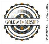 gold membership arabesque badge.... | Shutterstock .eps vector #1396786889