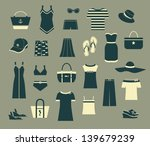 summer clothes and accessories  ... | Shutterstock .eps vector #139679239