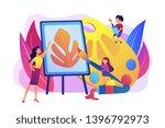 female artist at easel teaching ...   Shutterstock .eps vector #1396792973