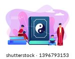 big book with yin yang and...   Shutterstock .eps vector #1396793153