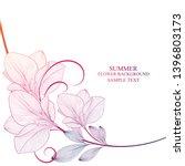 beautiful floral wedding... | Shutterstock .eps vector #1396803173