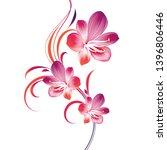 beautiful floral wedding... | Shutterstock .eps vector #1396806446