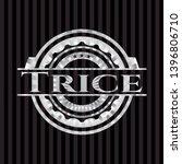 trice silver emblem or badge.... | Shutterstock .eps vector #1396806710