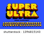 an extra bold font with comic... | Shutterstock .eps vector #1396815143