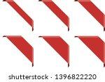set of red corner ribbon banners | Shutterstock .eps vector #1396822220