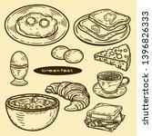 vector hand drawn set for... | Shutterstock .eps vector #1396826333