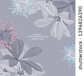 abstract floral background with ... | Shutterstock .eps vector #1396826390