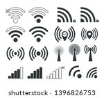 wi fi. set of wi fi icons.... | Shutterstock .eps vector #1396826753