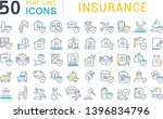 set of vector line icons of... | Shutterstock .eps vector #1396834796