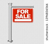 red sign for sale isolated on... | Shutterstock .eps vector #1396836566