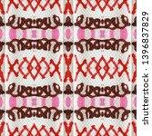 tibetan fabric. abstract batik... | Shutterstock . vector #1396837829