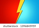 versus superhero fight comic... | Shutterstock .eps vector #1396845959