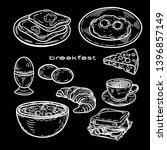 vector hand drawn set for... | Shutterstock .eps vector #1396857149