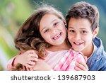 Portrait Of Two Happy Kids...