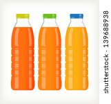 bottles with juice isolated on... | Shutterstock .eps vector #139688938