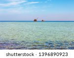 red sea coast  reef and wrecked ...   Shutterstock . vector #1396890923