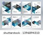set of annual report brochure...   Shutterstock .eps vector #1396894310