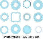 set of sewing frames   vector... | Shutterstock .eps vector #1396897106