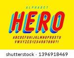 trendy 3d comical font design ... | Shutterstock .eps vector #1396918469