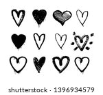 hand drawn hearts. design... | Shutterstock .eps vector #1396934579