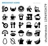breakfast foods vector icon set   Shutterstock .eps vector #1396953479