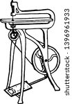 treadle fret saw  it is a type... | Shutterstock .eps vector #1396961933
