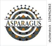 asparagus arabesque badge....   Shutterstock .eps vector #1396962863