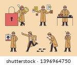 detective characters... | Shutterstock .eps vector #1396964750