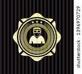 thief icon inside golden emblem ... | Shutterstock .eps vector #1396970729
