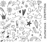 hand drawn abstract scribble... | Shutterstock .eps vector #1396995566