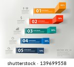 Modern business steps to success charts and graphs options banner. Vector illustration modern design template