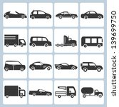 car icons set | Shutterstock .eps vector #139699750