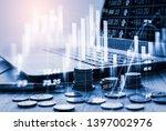 stock market or forex trading...   Shutterstock . vector #1397002976
