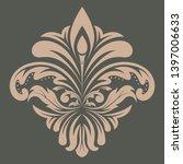 retro graphic ornament. floral... | Shutterstock .eps vector #1397006633