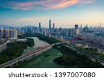 a drone aerial view of the city | Shutterstock . vector #1397007080