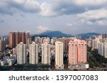 a drone aerial view of the city | Shutterstock . vector #1397007083