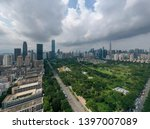 a drone aerial view of the city | Shutterstock . vector #1397007089
