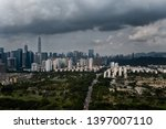 a drone aerial view of the city | Shutterstock . vector #1397007110