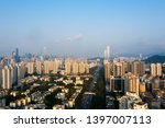 a drone aerial view of the city | Shutterstock . vector #1397007113