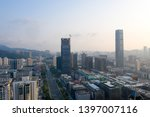 a drone aerial view of the city | Shutterstock . vector #1397007116
