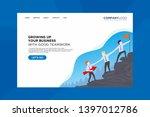 teamwork landing page  hand in... | Shutterstock . vector #1397012786