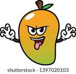 cartoon scaring mango character ... | Shutterstock .eps vector #1397020103
