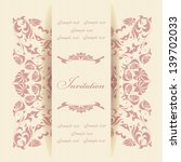 beautiful invitation card with... | Shutterstock .eps vector #139702033