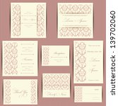 set of wedding invitation cards ... | Shutterstock .eps vector #139702060