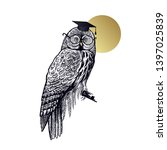 owl in square academic cap and... | Shutterstock .eps vector #1397025839