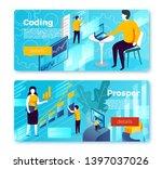 vector set of bright banner... | Shutterstock .eps vector #1397037026