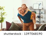 father's day. happy family... | Shutterstock . vector #1397068190