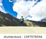 ladakh mountains series view.... | Shutterstock . vector #1397078546