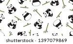 bear seamless pattern vector... | Shutterstock .eps vector #1397079869